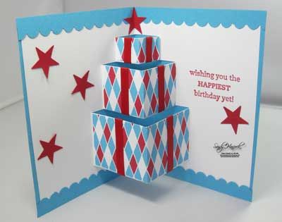 Udderlyawesome Stamping From The Heart Big Top Birthday Pop Up Card