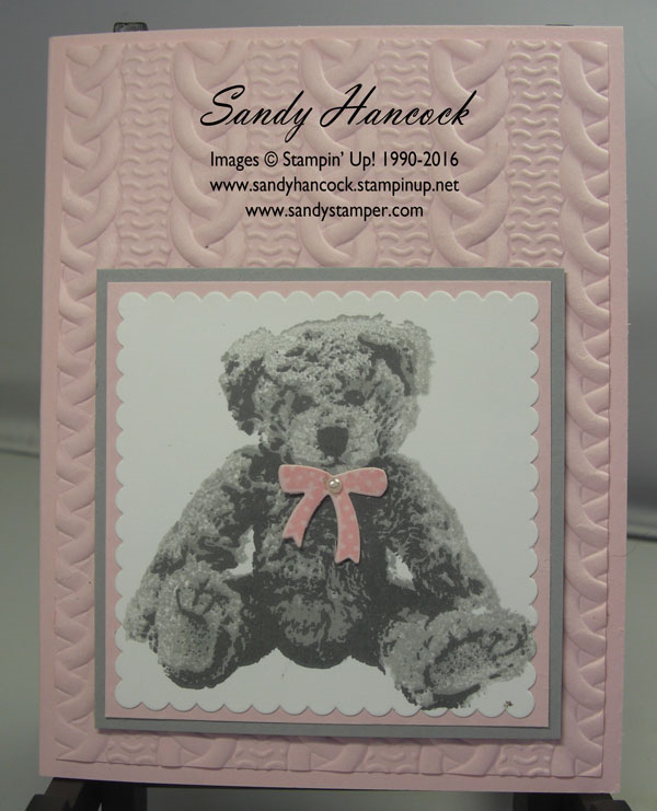 Udderlyawesome Stamping From The Heart Baby Bear With The Cable